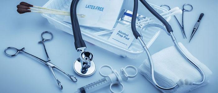 Une large variété de matériels médicaux